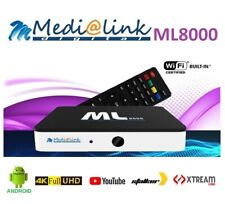 Box Android 7.1Medialink ML8000 4K H.265 TV IPTV QUAD CORE 1GB RAM 8GB ROM WIFI