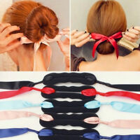 Clip Stick Bandage Bow Bun Hair Twist Styling Maker Braid Tools Hair Accessories