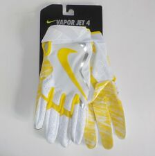 Nike VAPOR JET 4 Receiver Gloves YELLOW GF0572 109 Adult Size SMALL Fast Ship