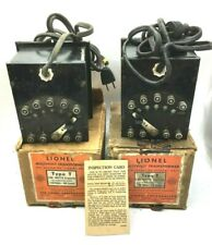 LIONEL Lot of 2 Multivolt Transformers Type T 100 watts 110 Volts - 60 Cycles