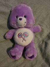 Care Bear Share 12� Plush 2002 Purple Lollipops Soft Stuffed Animal