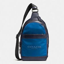 Paypal Coach Men's Bag F59320 Midnight Navy Charles Pack in Nylon Agsbeagle