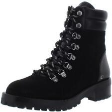 Coach Womens Lorren Suede Lace-Up Moto Combat Boots Shoes BHFO 3415