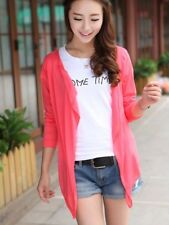 Fashion Autumn Candy Colors Sun Protection Casual Cardigans watermelon red