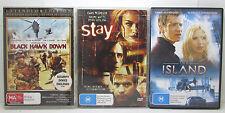 Black Hawk Down | The Island | Stay - Ewan McGregor 3 DVD Bundle