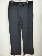 VERONIKA MAINE CUE black tailored pants w Belt & buckle sz 8