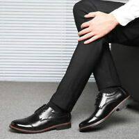 Men's Oxfords Leather shoes Dress Formal Business Casual Round Shoes