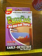 Confezione da 4 LETTI Buggy NUOVO Colla per trappole per CIMICI DA LETTO dormitorio Edizione Materasso Futon Bag