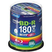100 Verbatim Blank Blu-ray Discs 25GB 6x BD-R bluray VBR130RP100SV4 Spindle