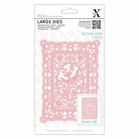 Xcut (Docrafts) Lace Frame Detailed Metal Die Set (2pcs) Paper Card Craft