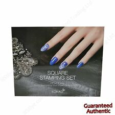 KONAD Square Image Plate Double Edge Stamp S01 S25 11ml Stamping Nail Art Set