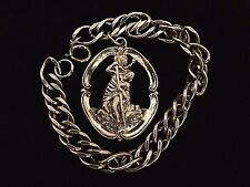 Catholic sterling silver religious medal & bracelet st. Christopher by Creed
