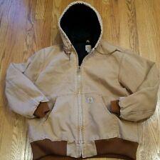 Vintage Carhartt Detroit Jacket Hooded TAN USA Men's Size XL