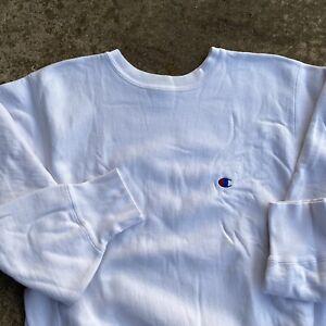 1980s Vintage Champion Reverse Weave Sweatshirt Men's Size Large USA 80s blank