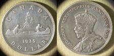 Canada : 1935 Silver Dollar VF Harshly Cleaned # IR10317