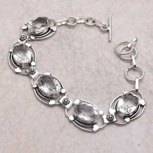 White Topaz Ethnic Gift Jewelry Handmade Bracelet 23 Gms AB 59697
