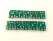10x SMD Adapterplatine SOT23 (0.95mm / 1.90mm) auf SIP3 FR4-Industriequalität