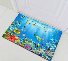 Tropical Fish Underwater World Floor Door Mat Kitchen Carpet Absorbent Bath Mat