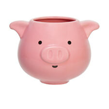 Adorable 3D Chubby Faced Pink Pig XL 24 oz Size Coffee Mug Tea Cup Ear Handles