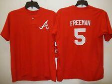 0217 Boys Youth Atlanta Braves FREDDIE FREEMAN Pullover Baseball JERSEY New RED