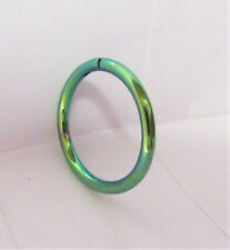 Green Titanium Snap in Hoop Helix Lip Conch Cartilage Piercing 16 gauge 10 mm