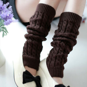 Women Knitted Foot Cover Eight-character Hemp Pattern Pile Warm Sock Boot Cover