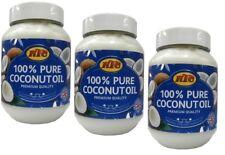 3x KTC 100% Pure Coconut Oil Premium Quality - Kokosnussöl 500ml (insg-1,5L)