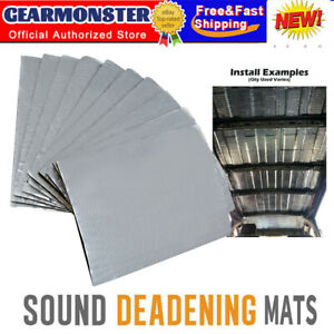 Sound Deadening 5mm Compact 10 Sheets Pack Kit Car Van Damping Mat UK Shipping