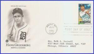 USA5 #4081 ADDR PCS ARTCRAFT FDC Hank Greenberg Baseball Sluggers