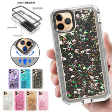 360° Liquid Glitter Bling Heavy Duty Case Cover For 2019 iPhone 11 PRO MAX