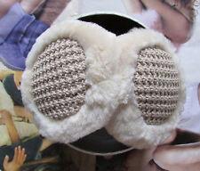 NEW UGG Earmuffs Knit & Shearling Great Jones Camel