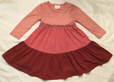 Beautiful Hanna Andersson Pink Tiered Color Block Twirl Dress Size 90 US 3 LN!!