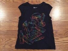 Girls Gap Kids Sleeveless Black Shirt Rainbow Ice Cream Pizza Soda XS 4 5