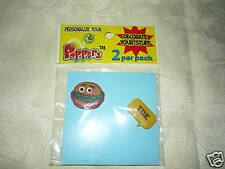 Poppers Shoe/Notebook Charms 2 Pk Hamburger & IDK ~ NEW