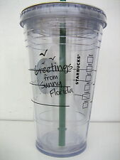 Starbucks SUNNY FLORIDA Tumbler TO GO CUP Clear, 16 oz