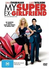 MY SUPER EX-GIRLFRIEND DVD R4 Uma Thurman, Luke Wilson, Anna Faris, Eddie Izzard