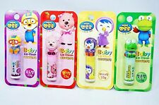 Pororo Lip Balm Stick 4 Character Sets x 2.5g Treatment for babies & Children