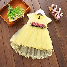 Toddler Infant Kids Baby Girls Summer Floral Dress Princess Party Dresses 0-3Y