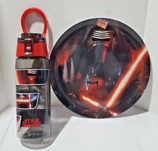 Zaks Designs Star Wars KYLO REN Dinner Plate & 25 oz Water Bottle - BRAND NEW