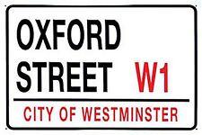 Oxford Street metal sign (fd)