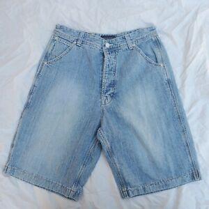 Vintage 90s Triple Five Soul 555 T5S Denim Blue Jeans Baggy carpenter SHORTS 32