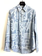 PAUL SMITH Herren NEU  Hemd L Langarmhemd Blau Muster Freizeit Shirt UVP €143