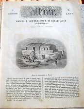 1853 L'ALBUM DI ROMA CON BARCA DI PESCIVENDOLI A SAN PIETROBURGO RUSSIA