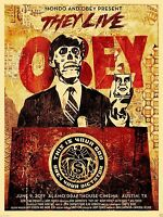 Obey Shepard Fairey They Live Mondo Fabric Cloth POSTER Wall Decoration 0124