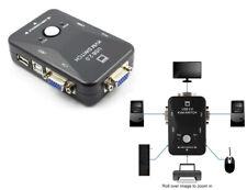 PDR*KVM Switch 2 Porte USB2.0 Per PC Tastiera Mouse Monitor VGA Stampante Box