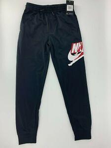 Nike Air Jordan Boys Athletic Jumpman Jogger Pants Black 95A793 Size Medium