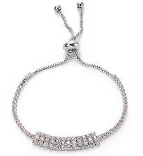 Very Sparkly Silver Cubic Zirconia Tennis Bracelet