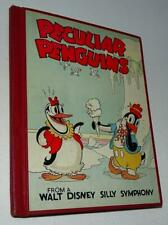 "Ex+/Vf 1934 ""Peculiar Penguins From A Walt Disney Silly Symphony"" Hardcover Book"