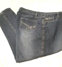 Duck Head Womens Plus Sz 24W Jeans Embellished Pockets Medium Wash Denim
