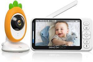 "Dragon Touch 4.3""Video Baby Monitor Telecamera Controllo Bambini con Allarme"